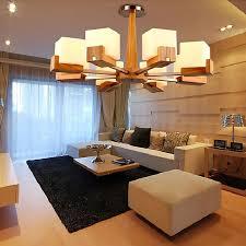 pendelleuchte aus holz modern für wohnzimmer