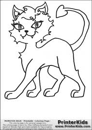 Monster High Crescent Clawdeen Wolfs Pet Coloring Page
