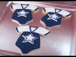 Dallas Cowboys Baby Room Ideas by Dallas Cowboys Baby Onesie Cookies Baby Shower Youtube Cookie