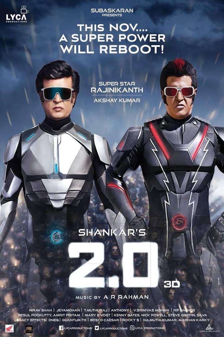2.0 (2018) 720p HDRip Hindi ( Line) – x264 – 1.3GB – 500MB