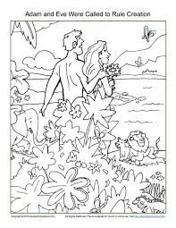 Adam And Eve Were Called To Rule Creation Coloring Page Childrens Bible Activities Sunday School