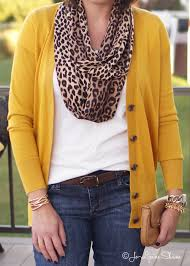 how to wear bootcut jeans for fall 2015 leopard scarf mustard