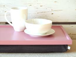 Cushioned Lap Desk With Storage by Breakfast Serving Or Laptop Lap Desk Pink With Grey Pillow On Luulla