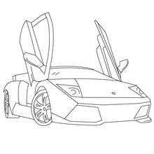 Lamborghini Murcielago Coloring Pages