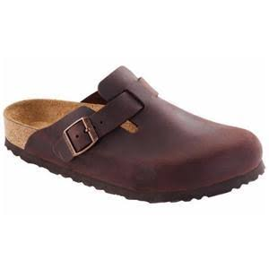 Birkenstock Unisex Boston Soft Footbed - Habana Oiled Leather, Size 43 EU