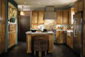 Gallery Of Countertops Backsplash Rustic Blue Kitchen Cabinet And Beige Cabinets With Decor