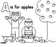 Kids Picking Apples Learning Printables For
