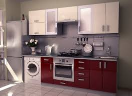 Innovative Small Modular Kitchen Decor Inspirations Awesome Design With Two Toned Red