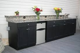 outdoor kitchen cabinets kits space black mosaic
