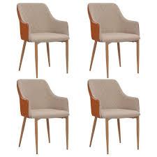 vidaxl esszimmerstühle 4 stk grau und braun stoff gitoparts
