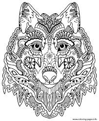 Cute Wolf Adult Mandala Grown Up Coloring Pages Printable And Book To Print For Free Find More Online Kids Adults Of