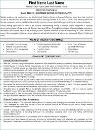 Banking Customer Service Sample Resume Awesome Samples For Sector