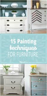 15 Painting Techniques For Furniture