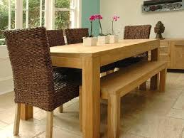 Dining Table And Bench Room Fresh Solid Wood With