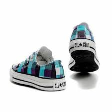 converse all plaid all overseas blue yellow purple plaid low top shoes where