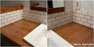the easiest way to tile a backsplash domestic imperfection