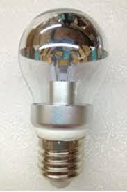 half chrome light bulb dimmable led edison bulb silver