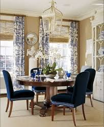Best Style Of Blue Dining Room With Wooden Table Around Four Chairs