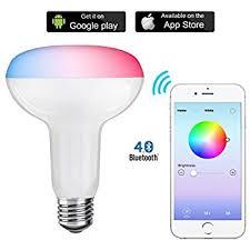 shyu bluetooth smart led light bulb e26 base 6000k smartphone