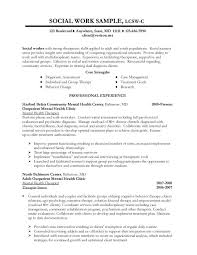 Sample Social Work Resume Examples With Strong Therapeutic Skills
