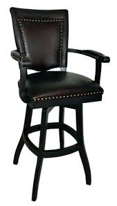 Black Leather Bar Stools by Leather Swivel Bar Stools With Back And Arms U2013 Yamahakeyboards Info
