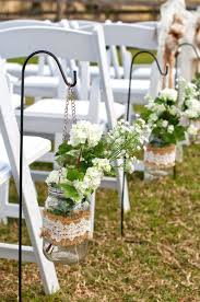 Wedding Rustic Decorations Inspiring Aisle With Additional Table