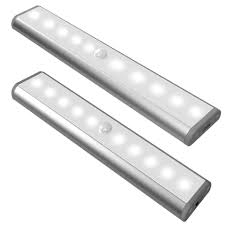10 leds battery operated motion sensor led cabinet light in warm