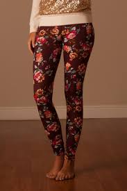 mocha rose floral print leggings affordable trendy and modest