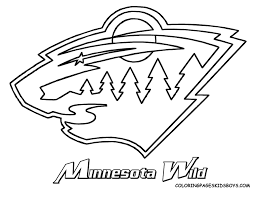Exclusive Design Hockey Coloring Pages Oilers Kings Wild Canadiens