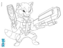 Little Groot Rocket Raccoon Guardians Of The Galaxy Coloring Page