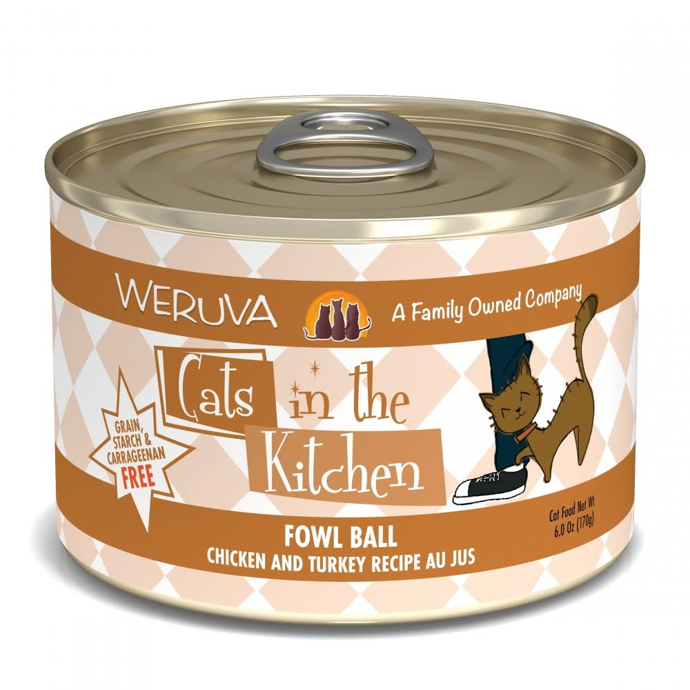Weruva Cats in The Kitchen Fowl Ball Cat Food - 3.2oz