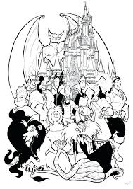 Disney Villains Coloring Pages Maleficent Online