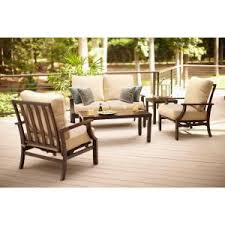 Home Depot Deep Patio Cushions by Hampton Bay Millstone 4 Piece Patio Deep Seating Set With Desert