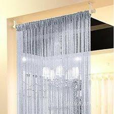 Beaded Curtains For Doorways Ebay by Door Streamers Silver U0026 Top Quality Bamboo Beaded Door Curtains