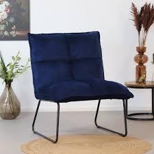 samt sessel malaga modern blau nur 2 tage lieferzeit