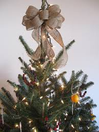 Beautiful Decoration Rustic Christmas Tree Topper Diy Toppers Burlap Bow From The