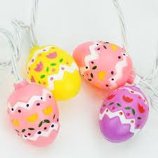 set of 10 pastel multi colored easter egg lights