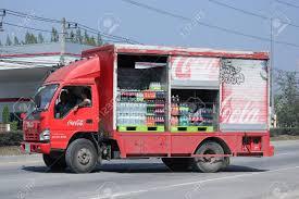 100 Coke Truck CHIANGMAI THAILAND JANUARY 29 2016 Coca Cola Stock