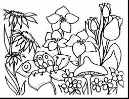 Marvelous Spring Flower Garden Coloring Pages With Free
