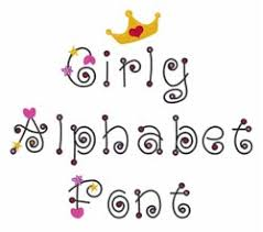 Girly Alphabet Font Embroidery Alphabet from Great Notions