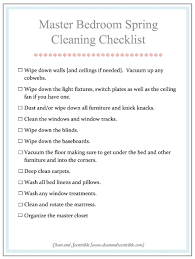Master Bedroom Spring Cleaning Checklist From Clean And Scentsible