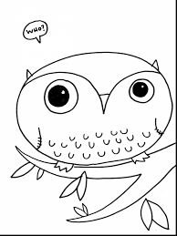 Wonderful Printable Owl Coloring Page With Free Pages And Animals