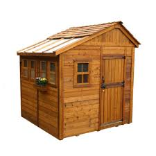 8 X 6 Resin Storage Shed by Outdoor Living Today Sunshed 8 Ft X 8 Ft Western Red Cedar
