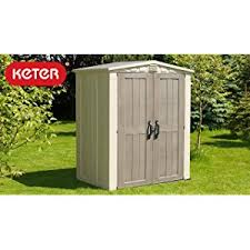 Rubbermaid Roughneck Medium Vertical Shed by Amazon Com Keter Factor Large 4 X 6 Ft Resin Outdoor Backyard