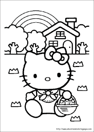 Free Printable Hello Kitty Easter Coloring Pages Christmas Online