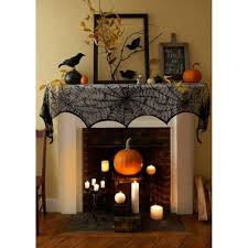 Halloween Mantel Scarf by Fireplace Spiderweb Mantle Scarf Cover U2013 Your Day