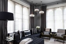 how to use dark curtains to shape a dramatic cozy interior