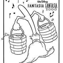 Fantasia MAGIC HAT BROOM Coloring Page