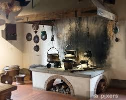fototapete alte küche