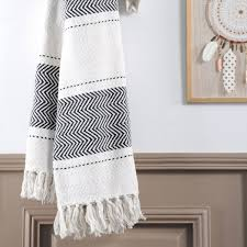 drap canapé jeté de canapé 150 cm valdavia chevron blanc jeté de canapé